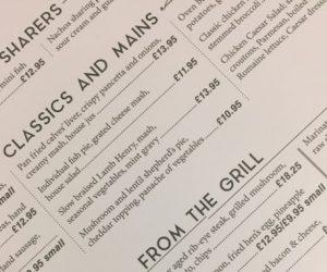 New menu sneakpeak