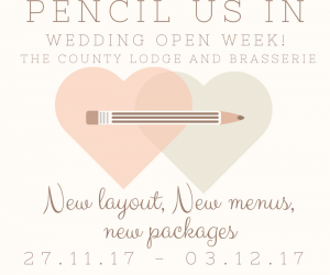 Wedding open weekthe county lodge and brasserie